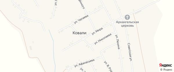 Улица Мира на карте села Ковали с номерами домов