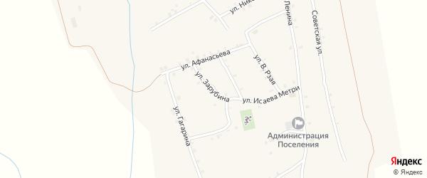 Улица Зарубина на карте села Ковали с номерами домов