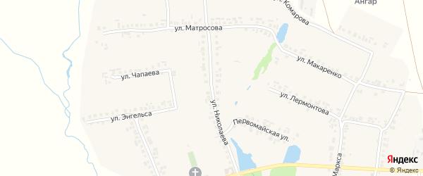 Улица Николаева на карте села Большие Яльчики с номерами домов