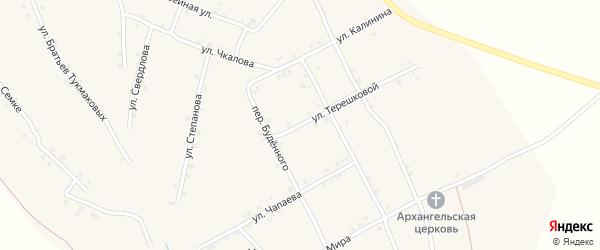 Улица Терешковой на карте села Ковали с номерами домов