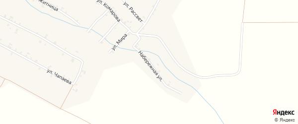 Набережная улица на карте села Шигали с номерами домов