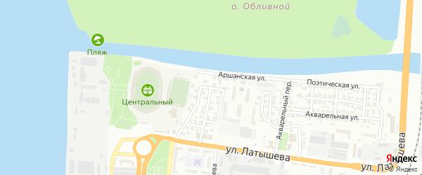 Аршанский 2-й переулок на карте Астрахани с номерами домов
