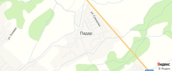Карта села Падара в Дагестане с улицами и номерами домов