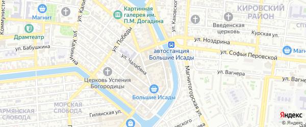 Базарный переулок на карте Астрахани с номерами домов