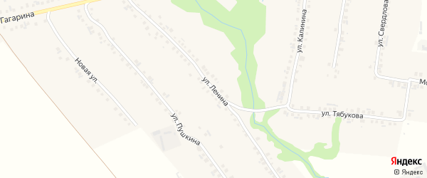 Улица Ленина на карте села Большие Яльчики с номерами домов