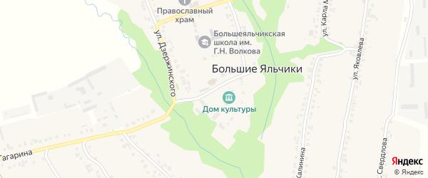 Кооперативная улица на карте села Большие Яльчики с номерами домов