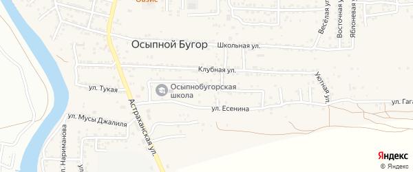 Улица Камала на карте села Осыпного Бугра с номерами домов