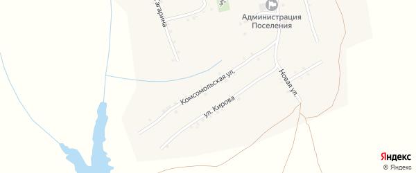 Комсомольская улица на карте села Ковали с номерами домов