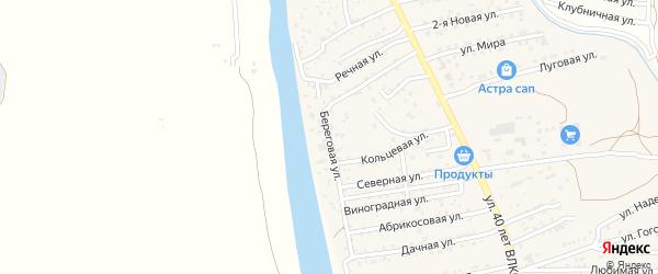 Береговая улица на карте села Осыпного Бугра с номерами домов