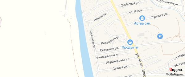 Береговая улица на карте поселка Кирпичного Завода N1 с номерами домов