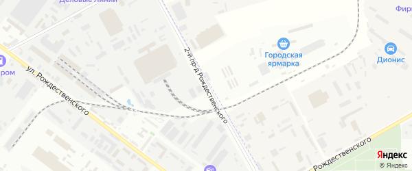 Рождественского 2-й проезд на карте Астрахани с номерами домов