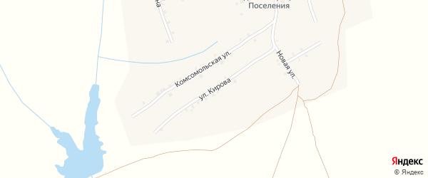 Улица Кирова на карте села Ковали с номерами домов