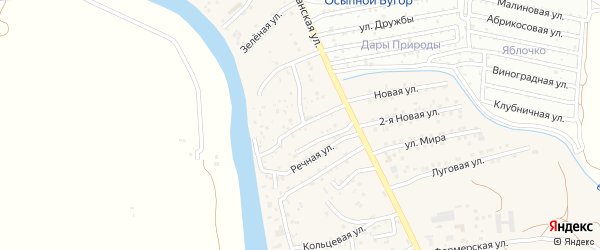 Земляничная улица на карте поселка Кирпичного Завода N1 с номерами домов