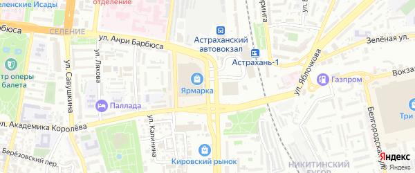 Вокзальная площадь на карте Астрахани с номерами домов