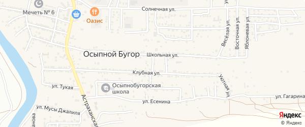 Школьный переулок на карте села Осыпного Бугра с номерами домов