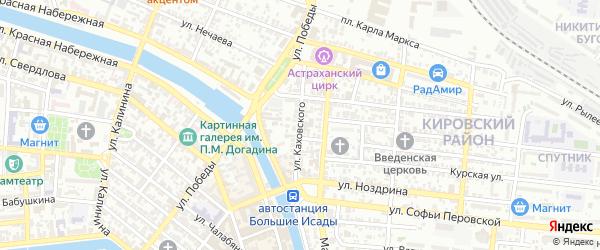 Улица Каховского на карте Астрахани с номерами домов