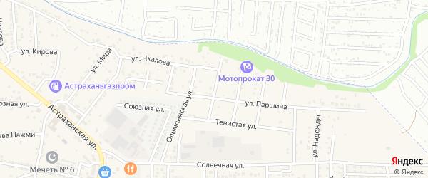 Луганская улица на карте села Осыпного Бугра с номерами домов