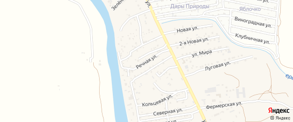 Речная улица на карте поселка Кирпичного Завода N1 с номерами домов