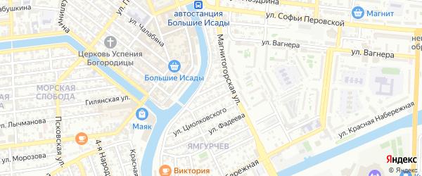 Белорусская улица на карте Астрахани с номерами домов