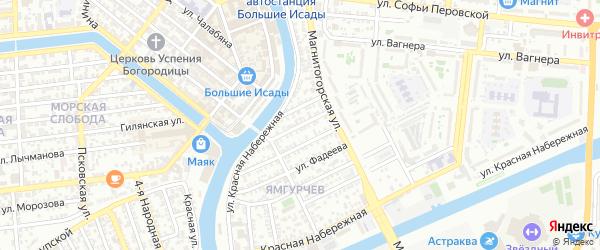 Хоперская улица на карте Астрахани с номерами домов