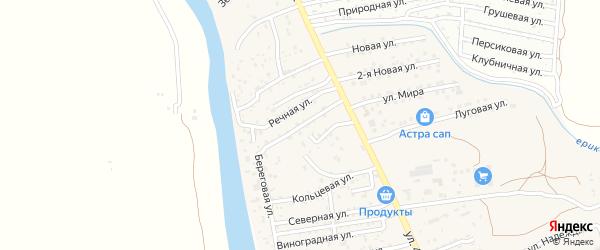 Кооперативная улица на карте поселка Кирпичного Завода N1 с номерами домов