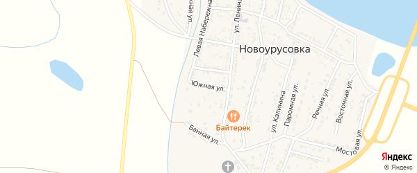 Южная улица на карте села Новоурусовки с номерами домов