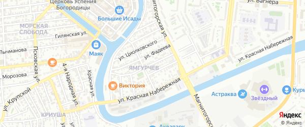 Грозненская улица на карте Астрахани с номерами домов