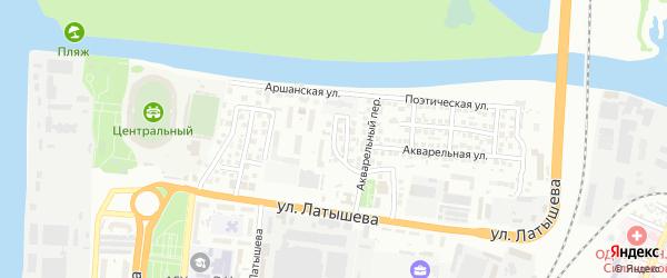 Романтический переулок на карте Астрахани с номерами домов