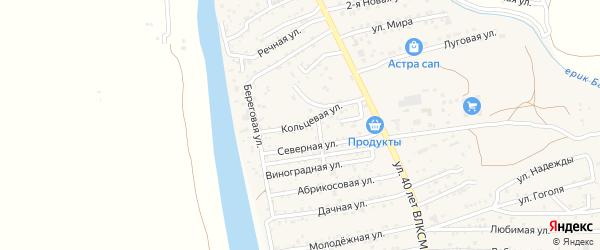 Кольцевая улица на карте поселка Кирпичного Завода N1 с номерами домов