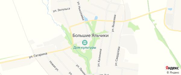 Карта села Большие Яльчики в Чувашии с улицами и номерами домов