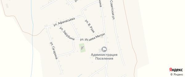 Улица Исаева Метри на карте села Ковали с номерами домов