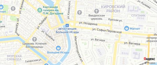 Улица Баумана на карте Астрахани с номерами домов