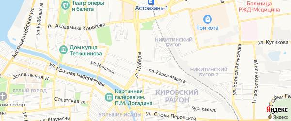 СТ Судоремонтник МСРЗ АРКСа на карте Астрахани с номерами домов