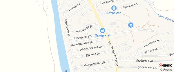 Северная улица на карте поселка Кирпичного Завода N1 с номерами домов