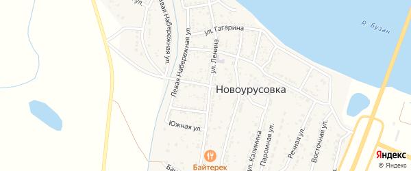 Проездная улица на карте села Новоурусовки с номерами домов