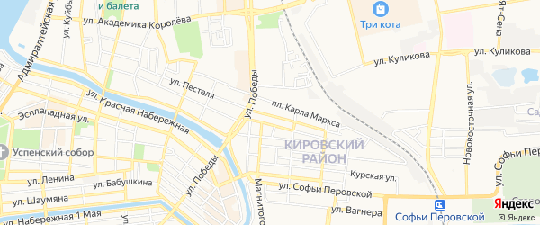 ГСК N13 на карте улицы Рылеева с номерами домов
