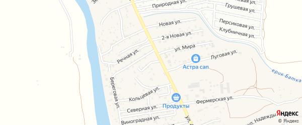 Вишневая улица на карте поселка Кирпичного Завода N1 с номерами домов