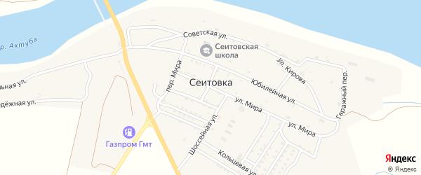 Гаражный переулок на карте села Сеитовки с номерами домов