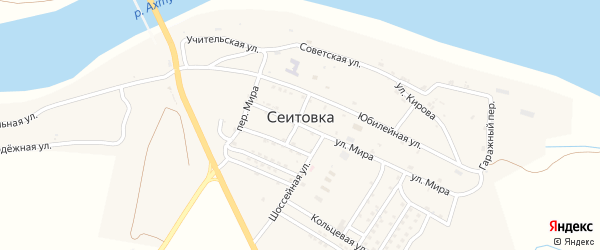 Советская улица на карте села Сеитовки с номерами домов