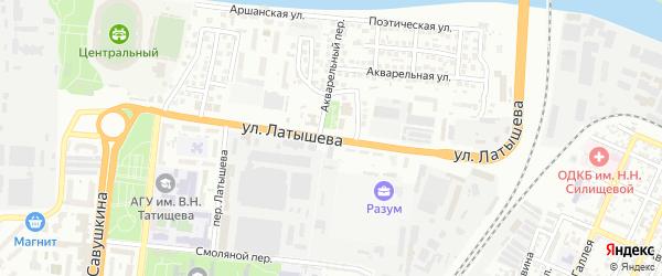 Улица Латышева на карте Астрахани с номерами домов
