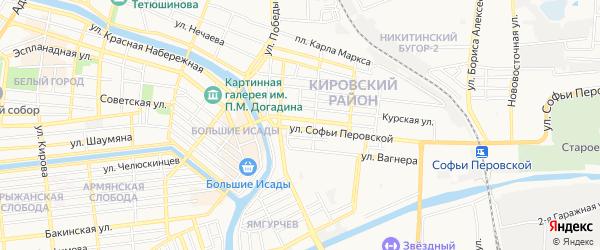 ГСК N17 на карте улицы Софьи Перовской с номерами домов