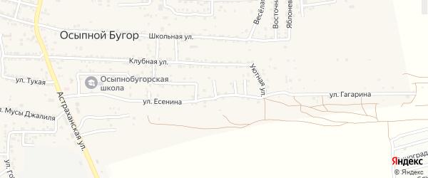 Уютный 1-й переулок на карте села Осыпного Бугра с номерами домов