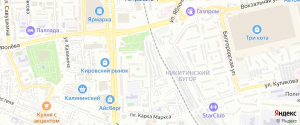 Улица Тютчева на карте Астрахани с номерами домов