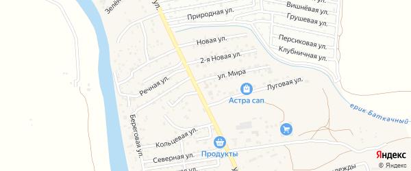 Улица Мира на карте поселка Кирпичного Завода N1 с номерами домов