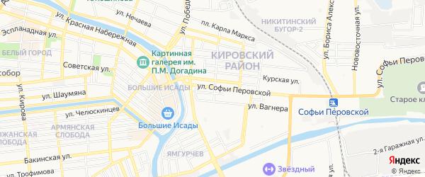 ГСК N34 на карте улицы Софьи Перовской с номерами домов