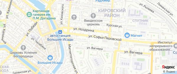 Грузинская улица на карте Астрахани с номерами домов
