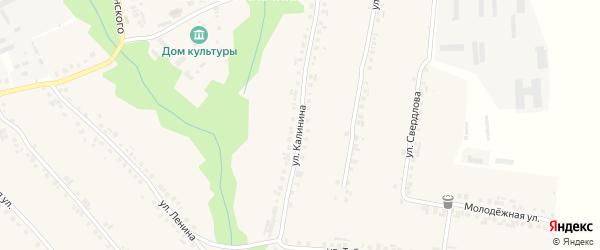 Улица Калинина на карте села Большие Яльчики с номерами домов