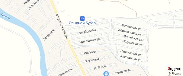 Территория сдт Дары природы на карте села Осыпного Бугра с номерами домов