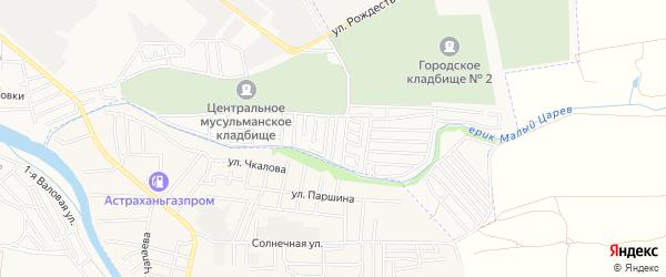 СТ Трудовик на карте Астрахани с номерами домов