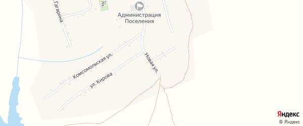 Новая улица на карте села Ковали с номерами домов